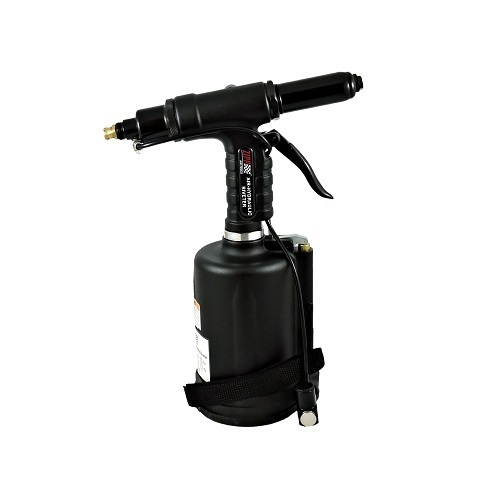 """Air Hydraulic Riveter 3/16"""" and 1/4"""" - Non Vacuum.  . Comes with 3/32"""", 1/8"""", 5/32"""" and 3/16"""" nose-pieces. - 3 Tool Pack"""